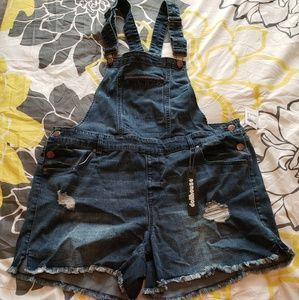 Other - Denim overall  shorts